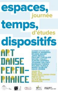 """Journée d'études """"Danse et performance : espaces, temps, dispositifs"""" jeudi 19 avril 2012"""